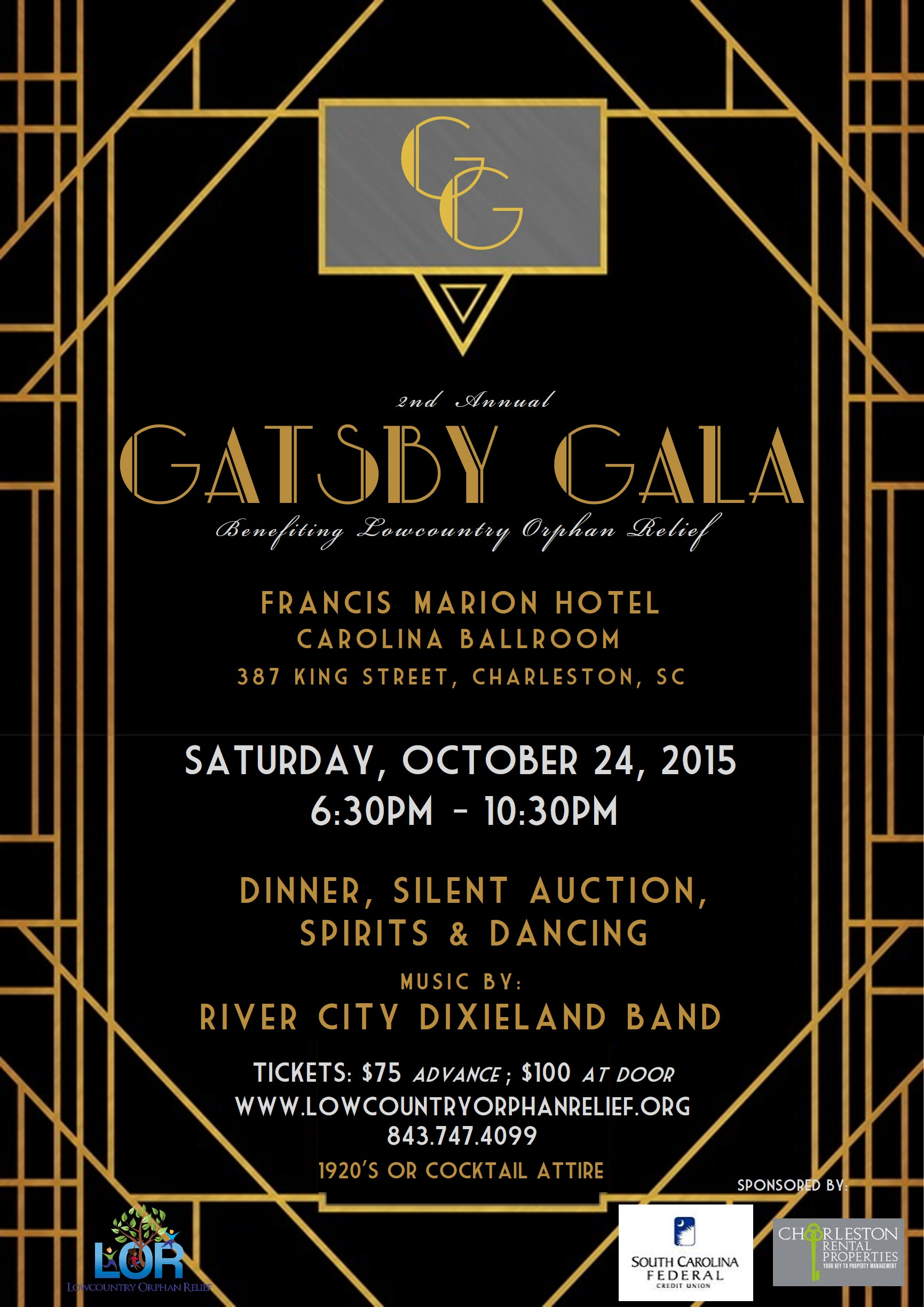 Join us for the 2nd Annual Gatsby Gala! | Charleston ...